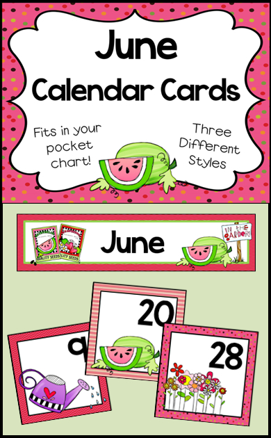 June Calendar Numbers - Monthly Calendar Cards Set Free Calendar With Number Cards