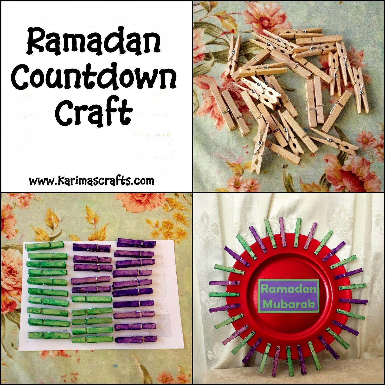 Karima'S Crafts: Ramadan Countdown Crafts - 30 Days Of Ramadan Countdown Free Printable