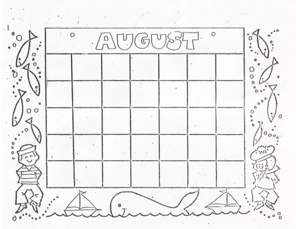 Kat'S Almost Purrfect Home: Free Blank Calendars To Color Calendars To Fill In And Print