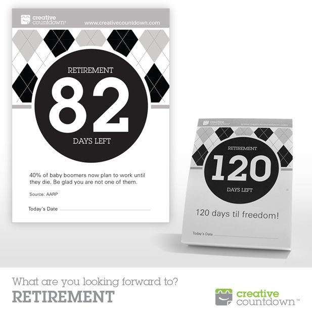 Know Someone Retiring This Year? 120-Day Countdown To Retirement Countdown Calendars Printable