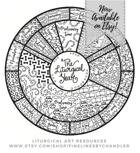 Liturgical Calendar Printable Resource | Etsy Church Calendar Template Free