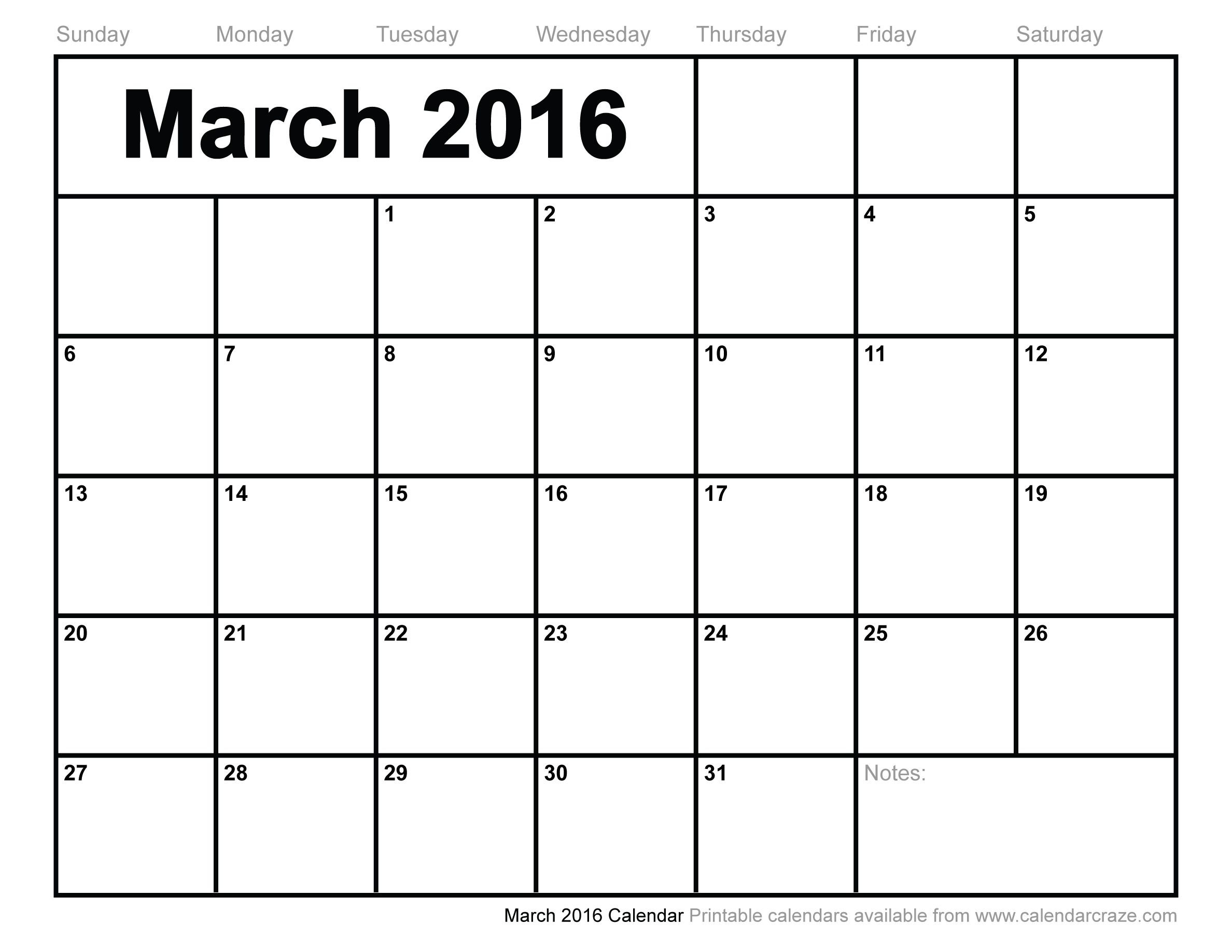 Mar 2016 Calendar Printable Pdf – Google Search Blank Calendars To Fill In Online