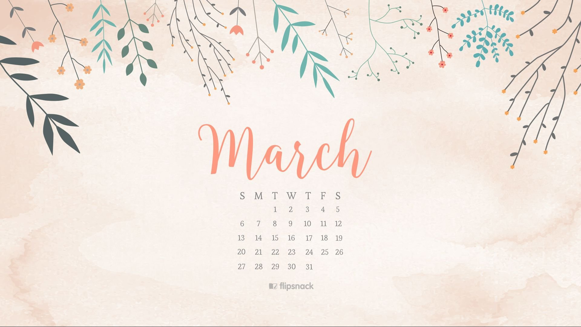 March 2016 Free Calendar Wallpaper – Desktop Background Download Crosscards Monthly Calendar For Computer Background