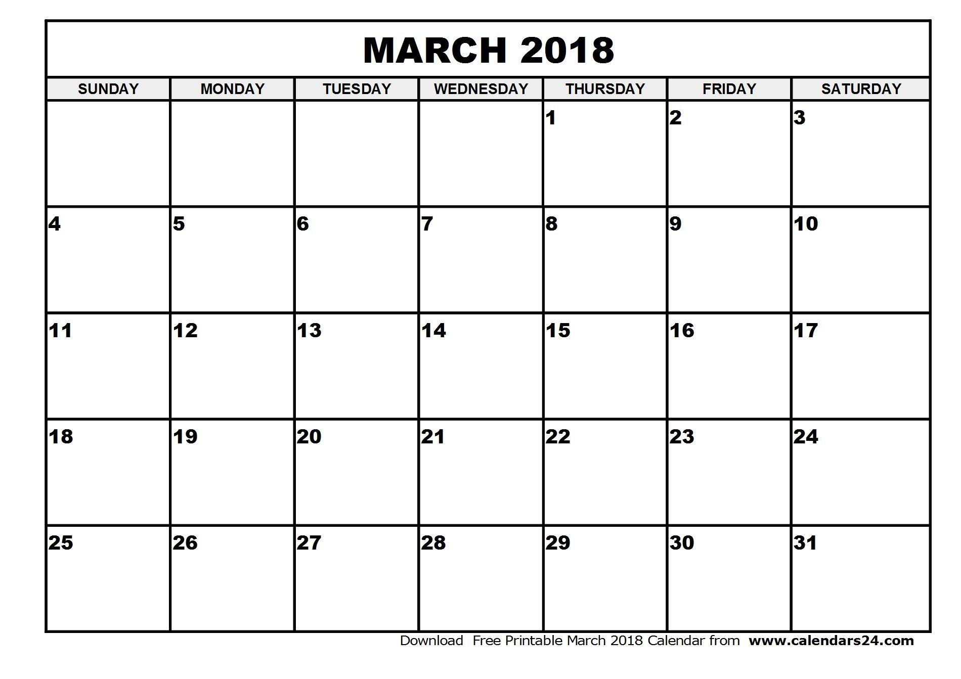 March-2018-Calendar-1 (1900×1343) | June Calendar How To Fill June Calendar