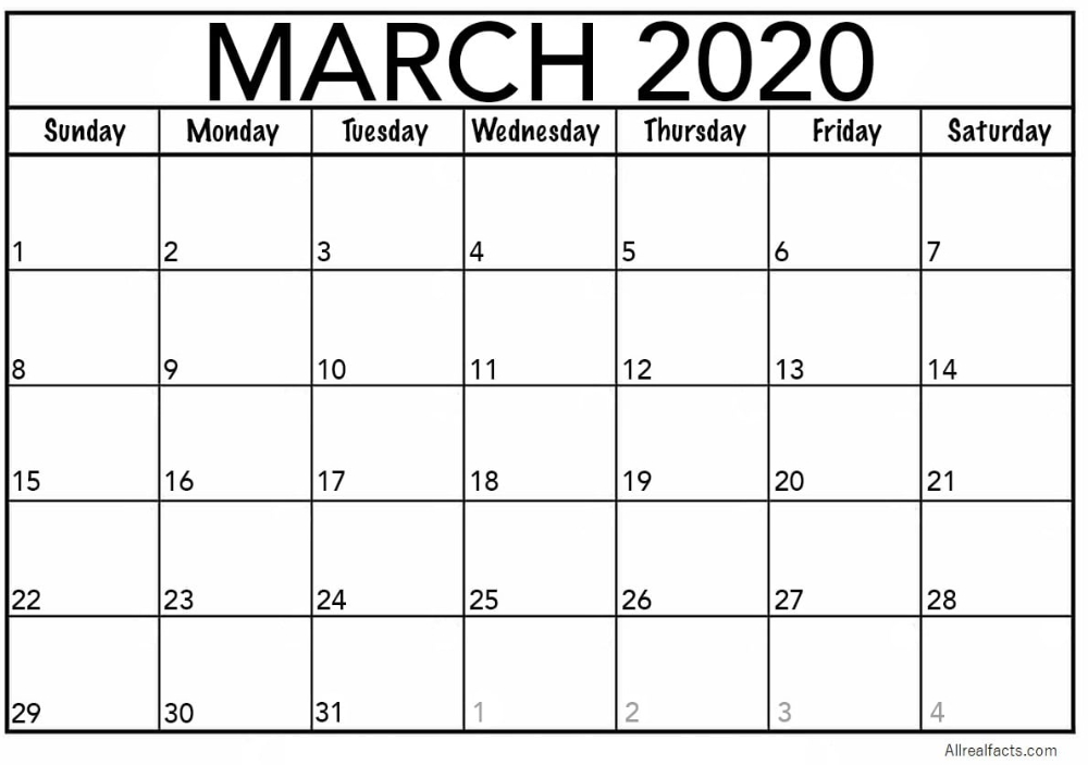 March 2020 Printable Calendar | Print, Edit & Customize As Printable Calenders You Can Edit