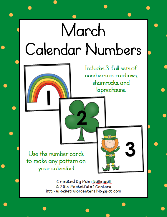 March Calendar Numbers | Calendar Numbers, Calendar Printable Numbers 1-31 Classroom Sets
