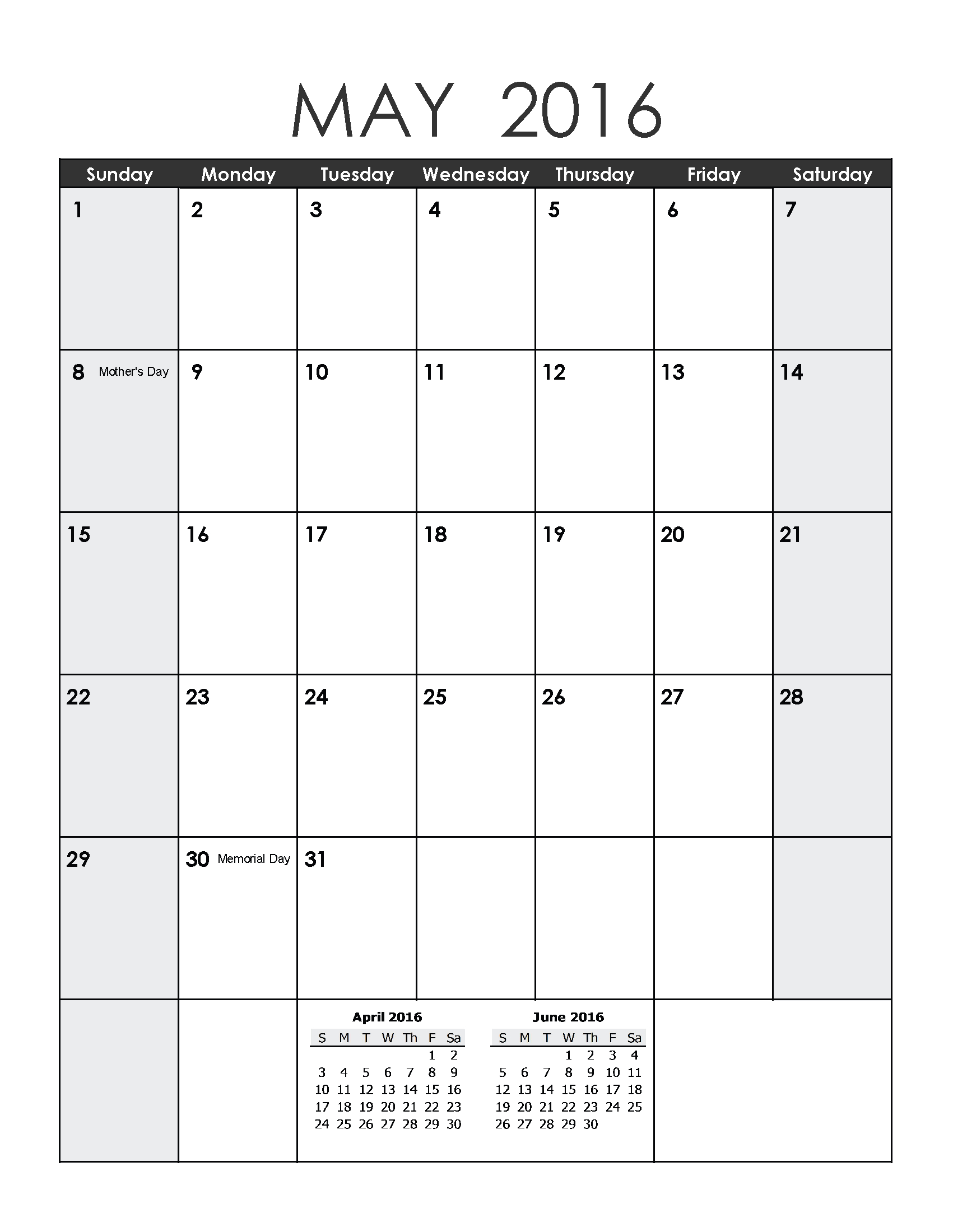 May 2019 Weekly Printable Calendar | Blank Templates Free Blank Calendar For One Week Printable