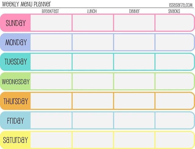 Meal Plan Template | Free Printable Weekly Meal Planner 2 Week Activity Calendar Editable