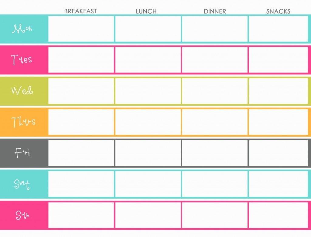 Meal Planning   Weekly Meal Planner Template, Meal Two Week Food Calendar