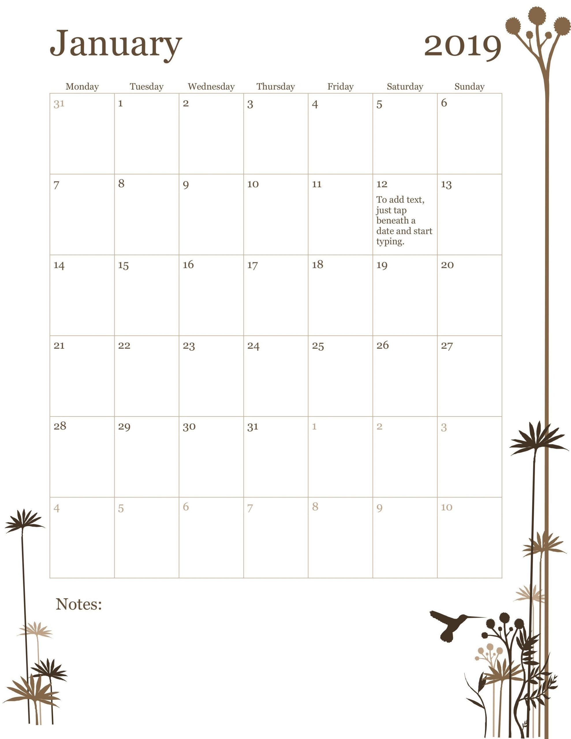 Monday Friday Monthly Calendar Template | Calendar Mon Fri Calendar Template