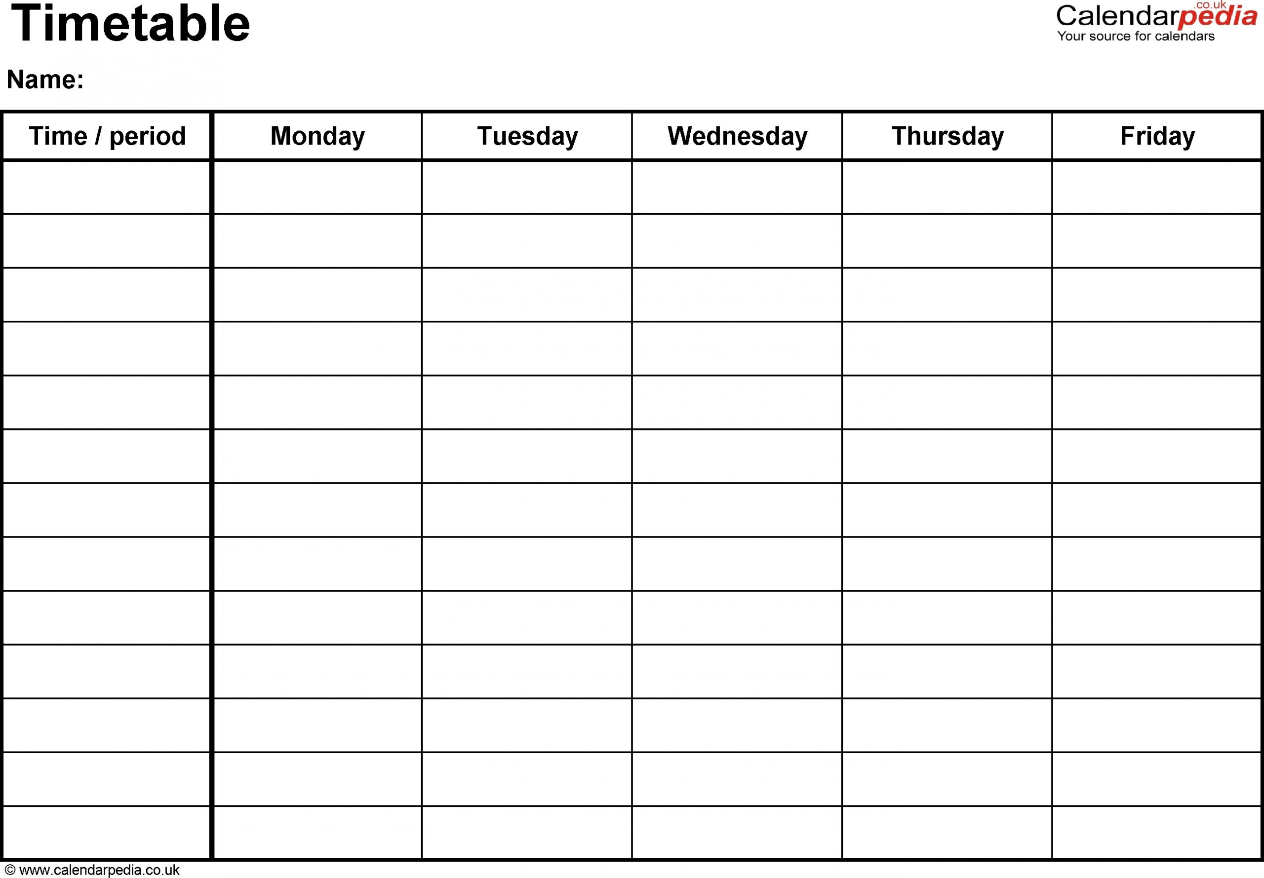 Monday Though Friday Timed Schedule - Calendar Inspiration This Week Monday To Friday Printable Calendar