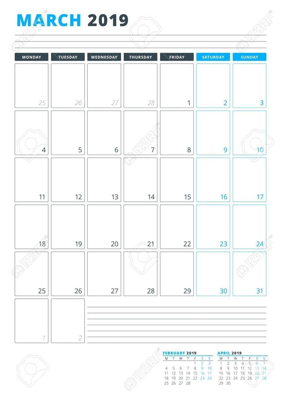 Monday Through Friday Planning Template | Calendar Mondaythru Friday Calenar Free