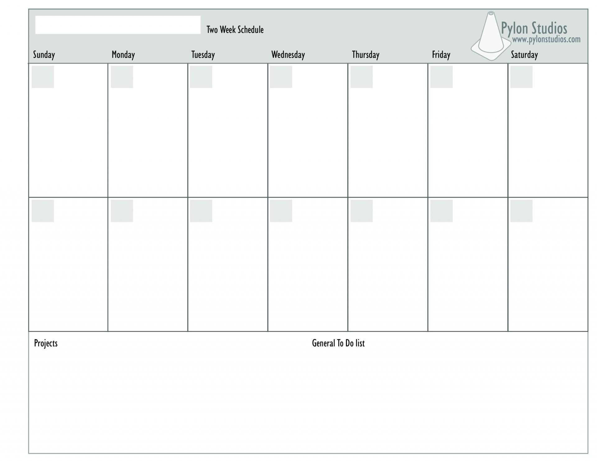 Monday To Friday 2 Week Calendar Template | Calendar Monday To Friday Weekly Calendar
