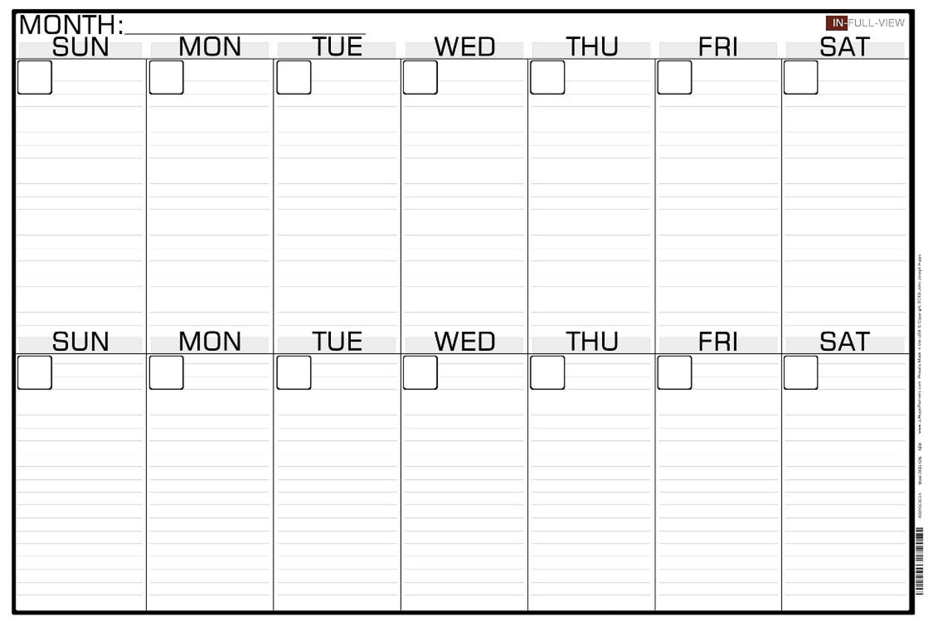 Monday To Friday 2 Week Calendar Template | Example Two Week Calendar Template