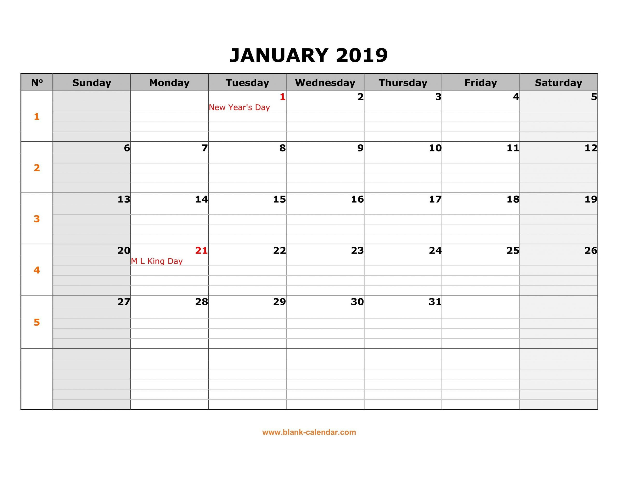 Monday To Friday Monthly Calendar | Calendar Template Free Monday To Friday Downloadable Calendar