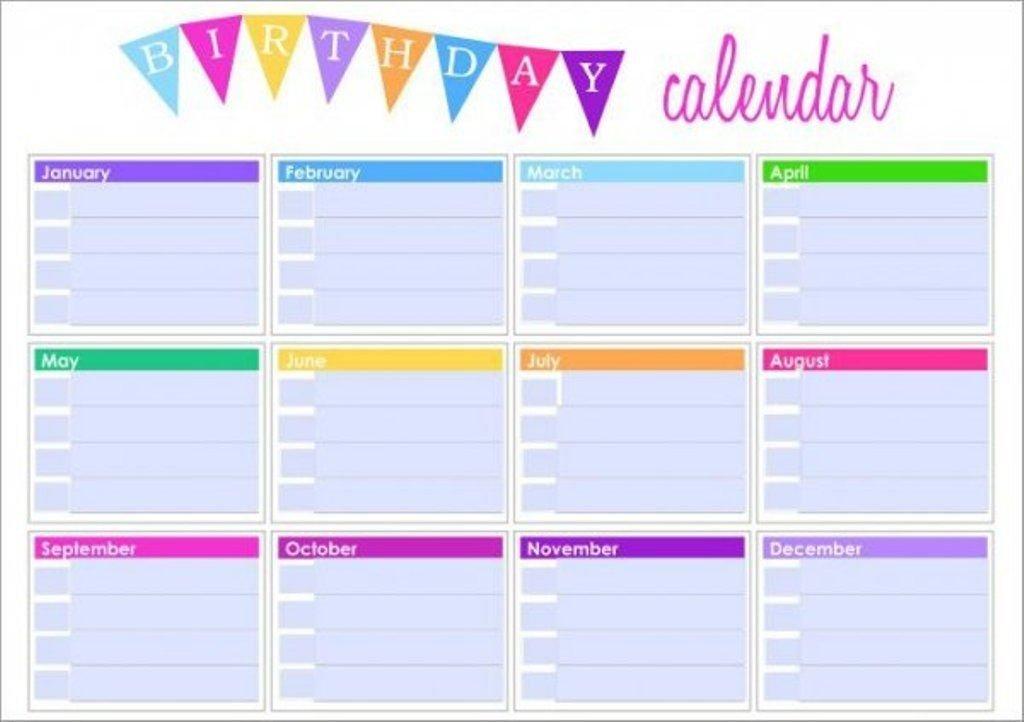Monthly Birthday Calendar Navabi Rsd7 Org 12 Month Birthday Calendar Template