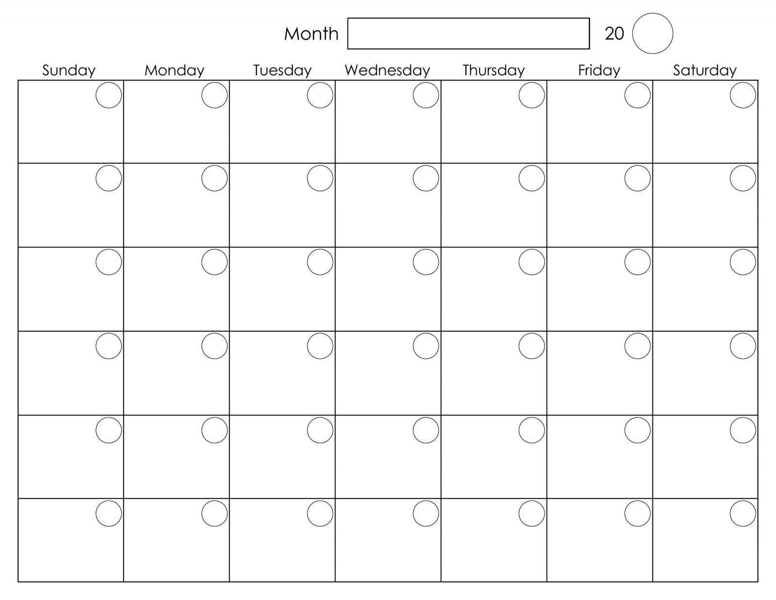 Monthly Monday To Friday Calendar | Calendar Template Free Printable Calendar Monday-Friday