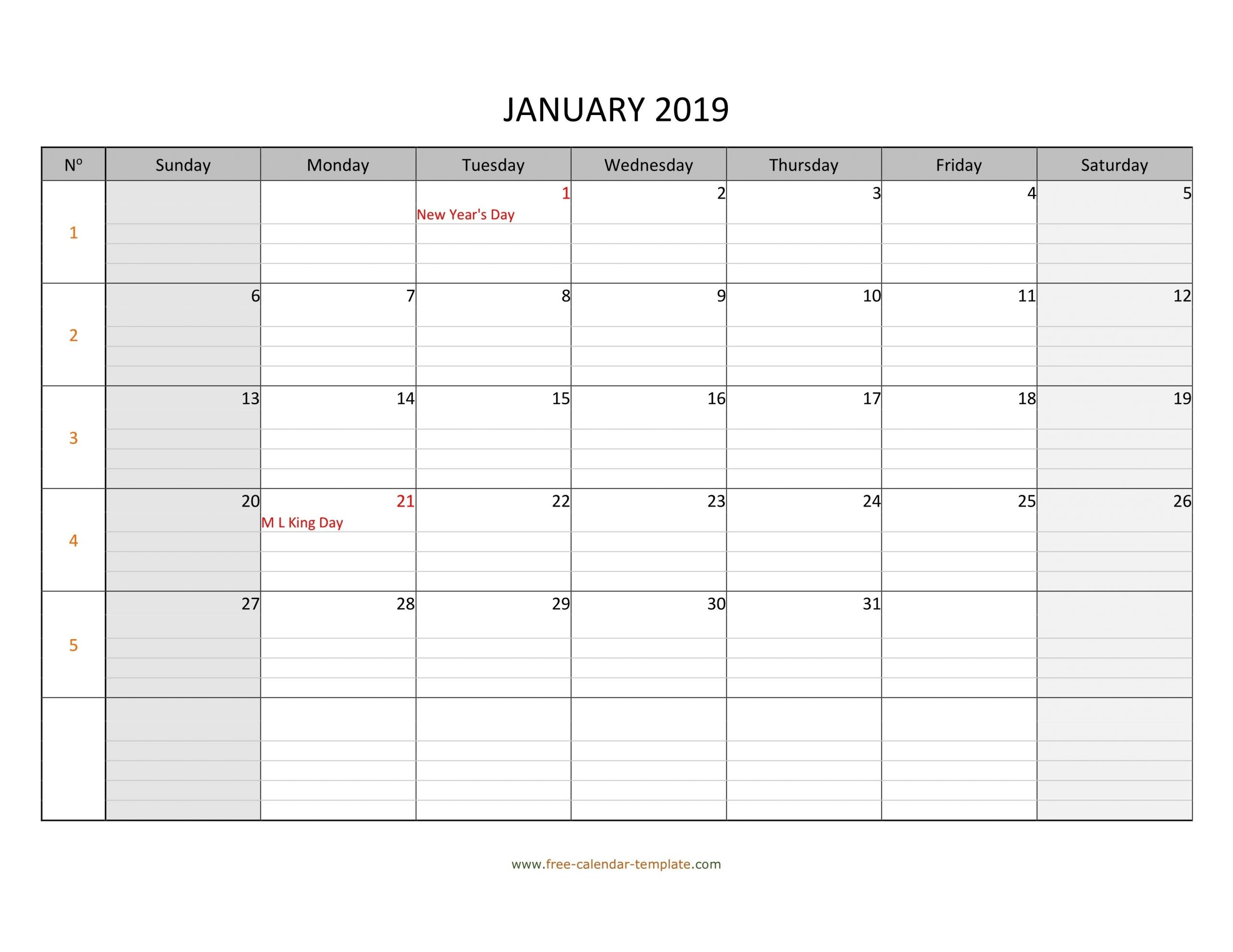 Monthly Monday To Friday Calendar | Calendar Template Monday Friday Calendar Template Printable