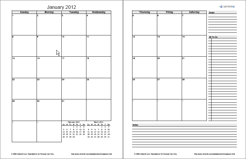 Monthly Planner Template - Free Printable Monthly Planner Free Two Week Planning Calendaar
