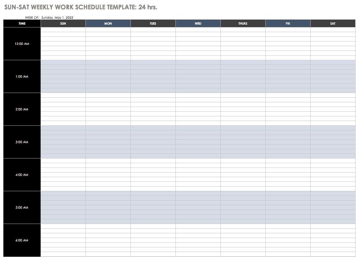 Monthly Time Off Schedule Calendar Template | Calendar Sprint Days Calendar Excel