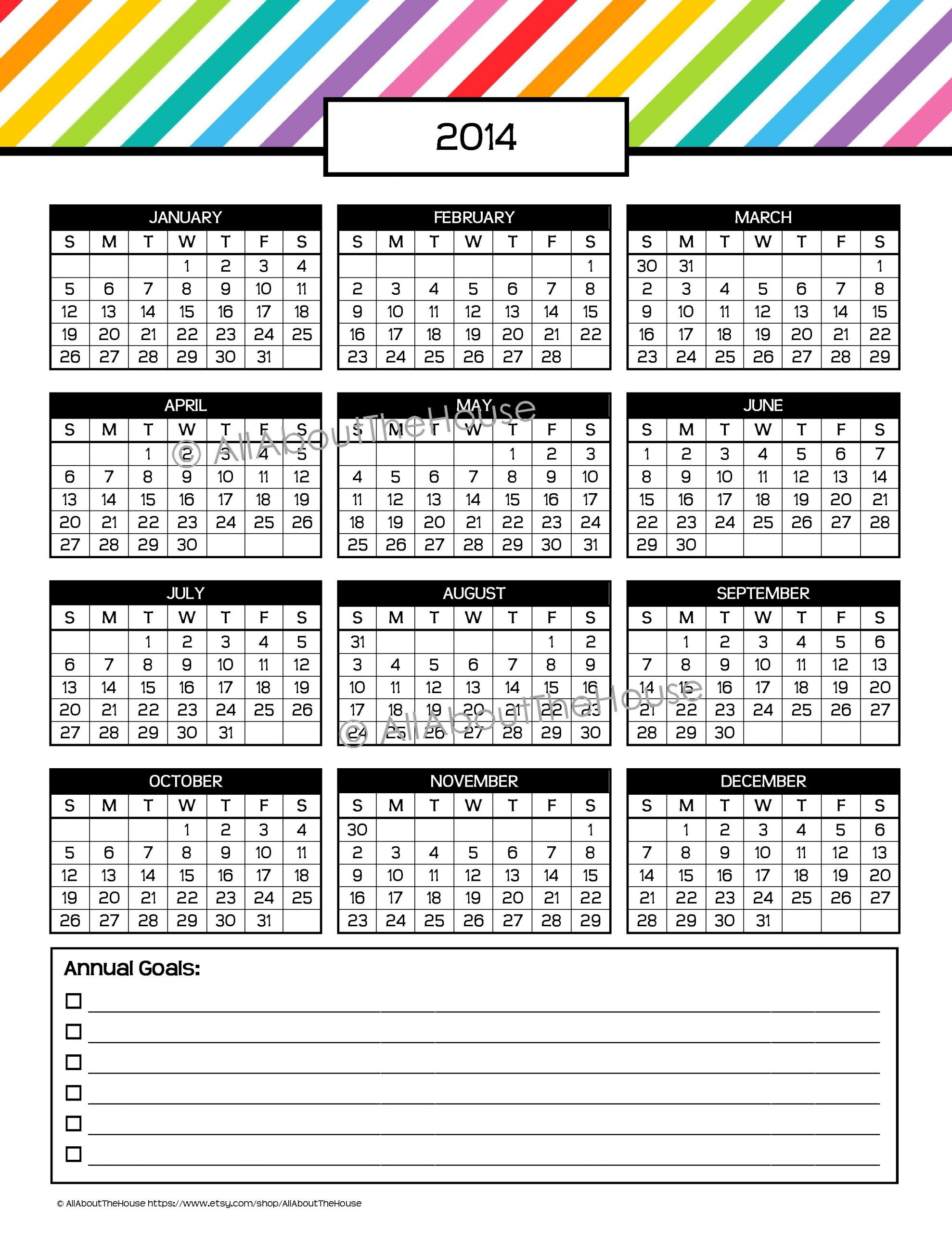 My 2015 Printable Rainbow Daily Planner | Allaboutthehouse Short Timers Calendar Printable