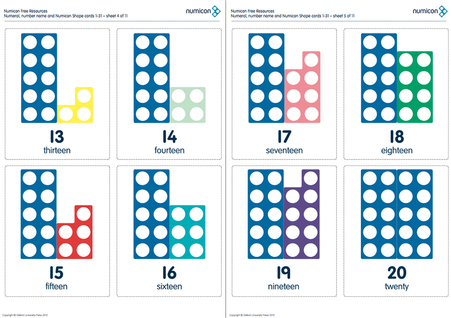 Numicon Cards For Numbers 1-31! | Numicon, Numicon Number Cards Until 31 Printable