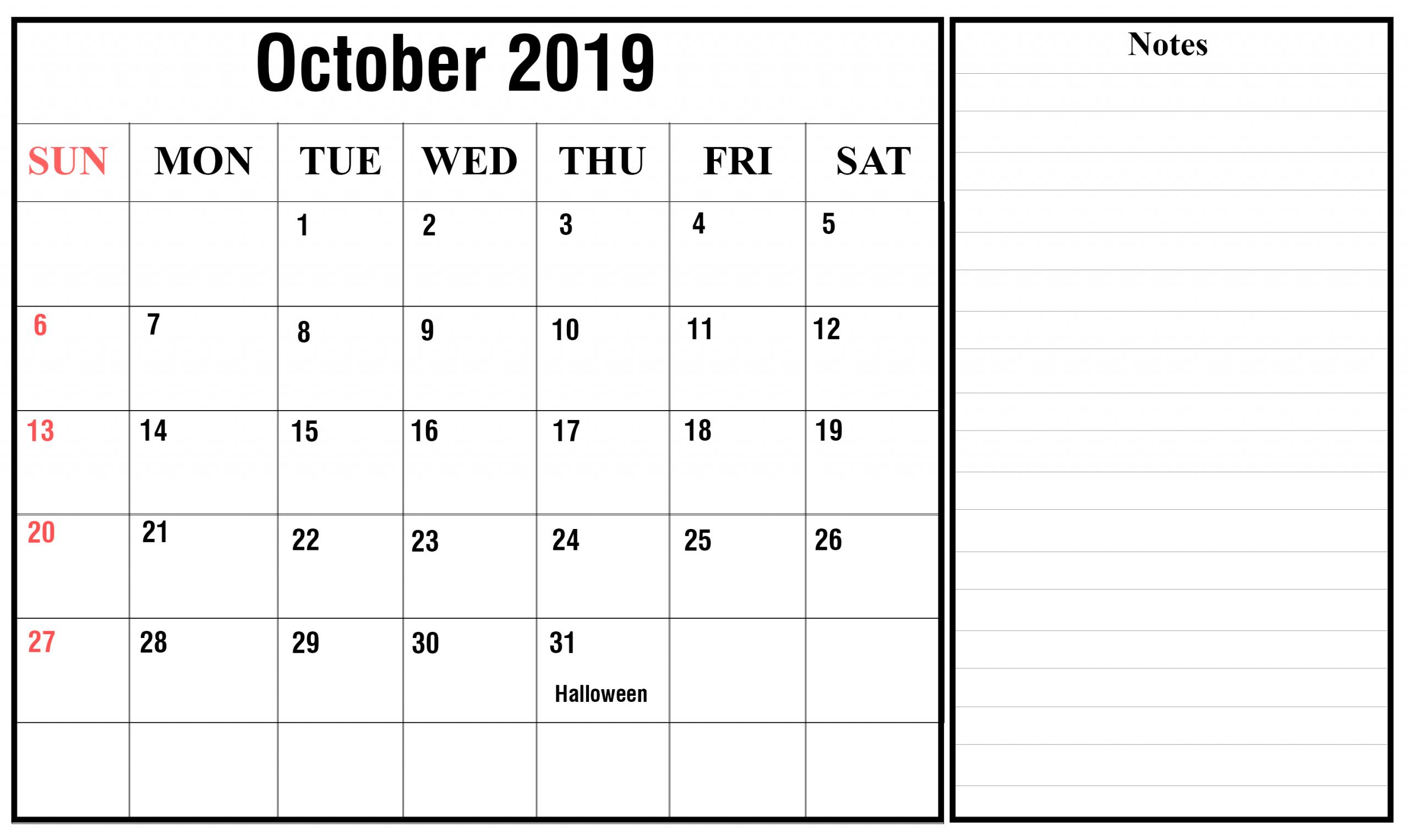 October Calendar Mon-Fri | Calendar Template Printable Mon Fri Calendar Template