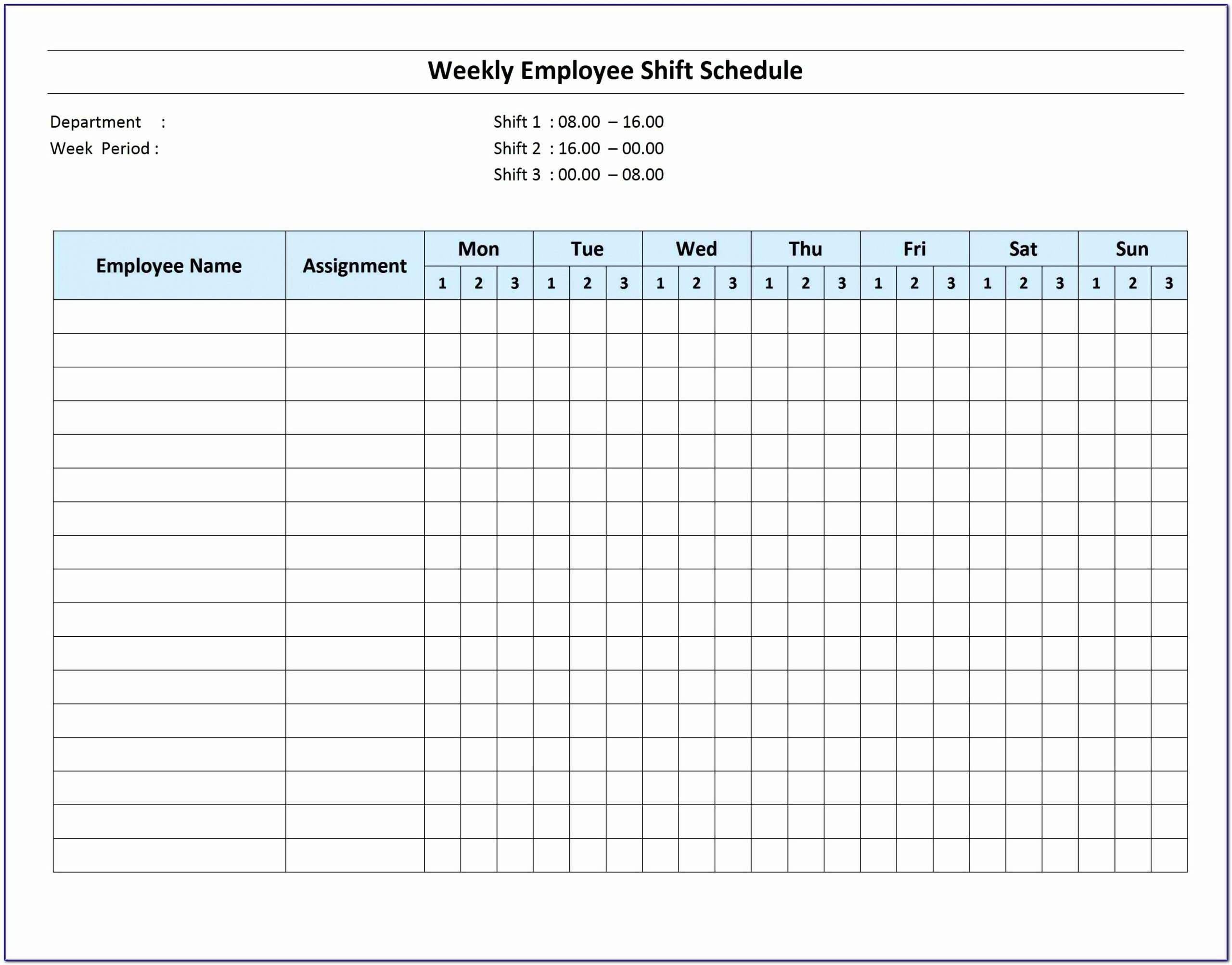 On Call Template Excel On Call Rotation Calendar Template