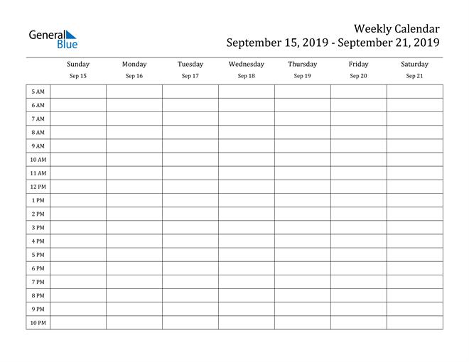 One Week Calendar Template Word | Pdf Template 1 Week Calendar Pdf
