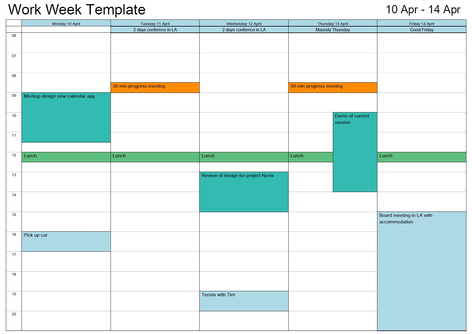 Outlook Printable Calendar In A4/A3 | Outlook Calendar Outlook Schedule 2Week Print