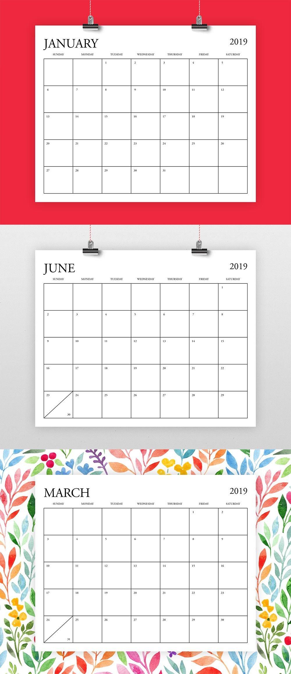 Pick 8.5 X 11 Calendar Template | Calendar Printables Free 5 X 8 Calendar Template