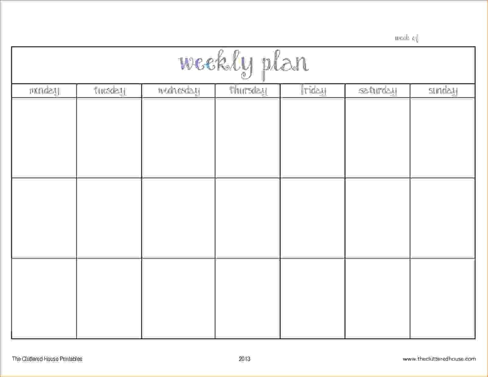 Pick Blank Two Week Schedule Template (With Images 2 Week Prinatable Calendar