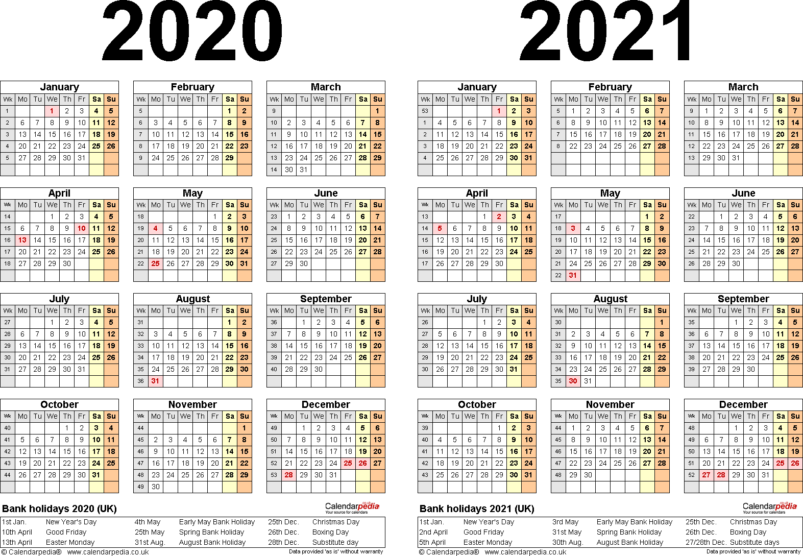 Pick Printable 2 Year Calendar 2020 2021 | Calendar Pick The Due Date Calendar Template Free