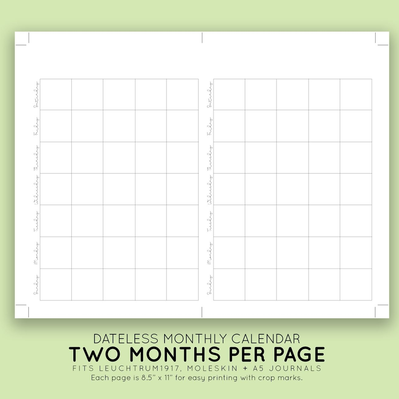 Pick Printable Blank Monthly Calendar With Lines For Purse Premade Calendar With Time Slots For April And May