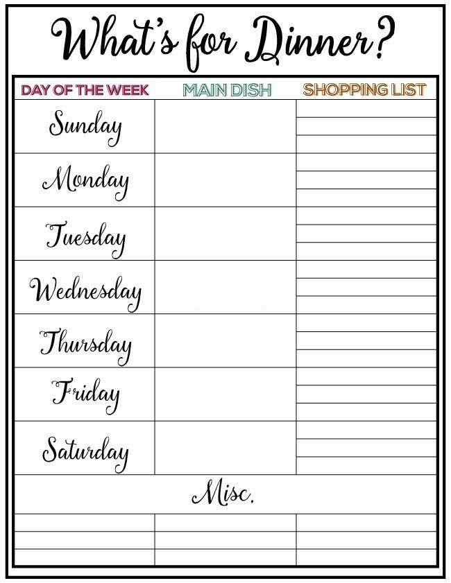 Pin On Abigails Dinner Two Week Food Calendar