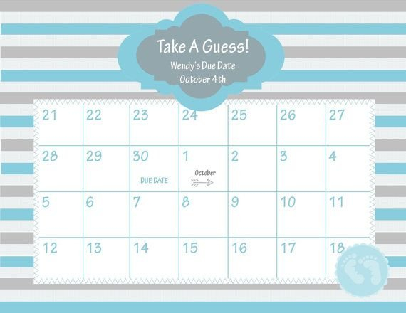Pin On Baby Baby Free Printable Due Date Calendar