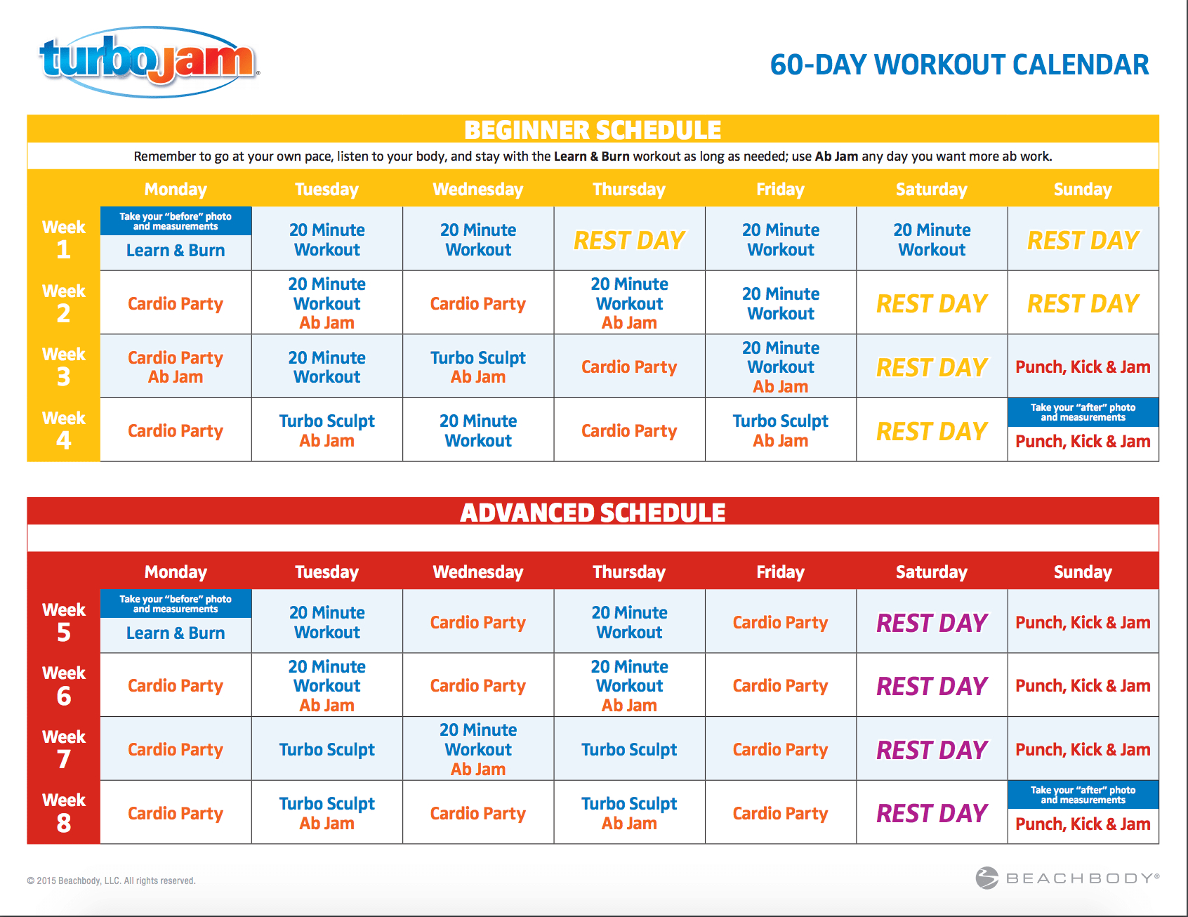 Pin On Exercise Turbo Jam Calendar Download