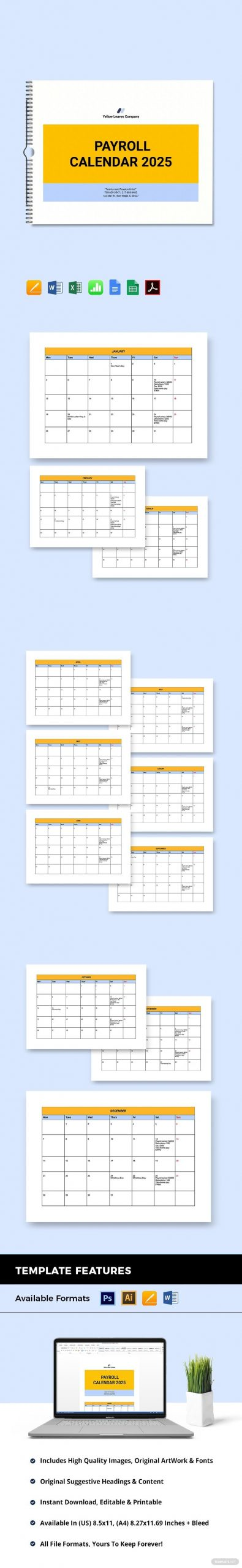 Pin On Financial Logo Galleries Example Of Editable Payroll Calendar
