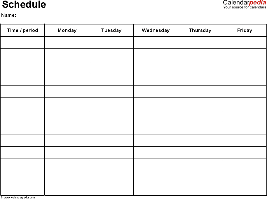 Pin On To Organize Mon-Fri Monthly Calendar Template