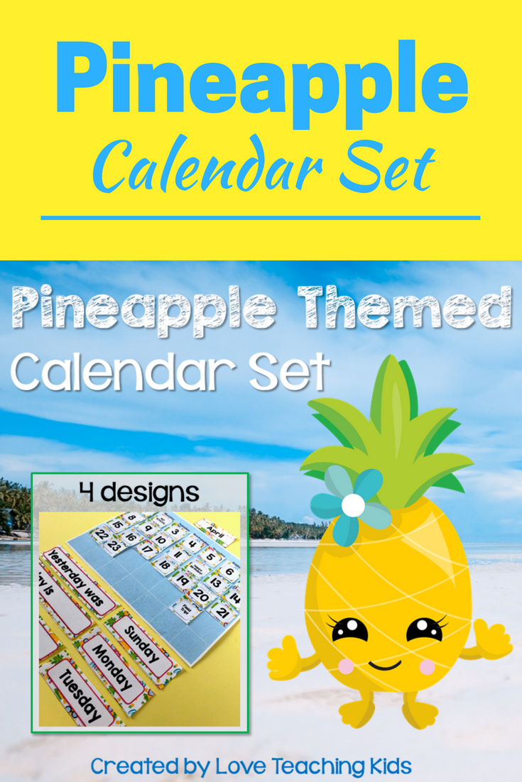 Pineapple Classroom Decor Calendar Set | Pineapple Printable Numbers 1-31 Classroom Sets