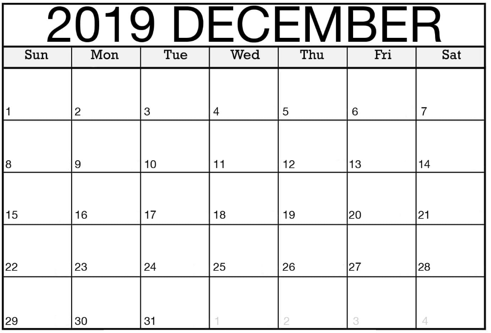 Pinfree Printable Calendars On December 2019 Calendar Short Timers Calendar Printable