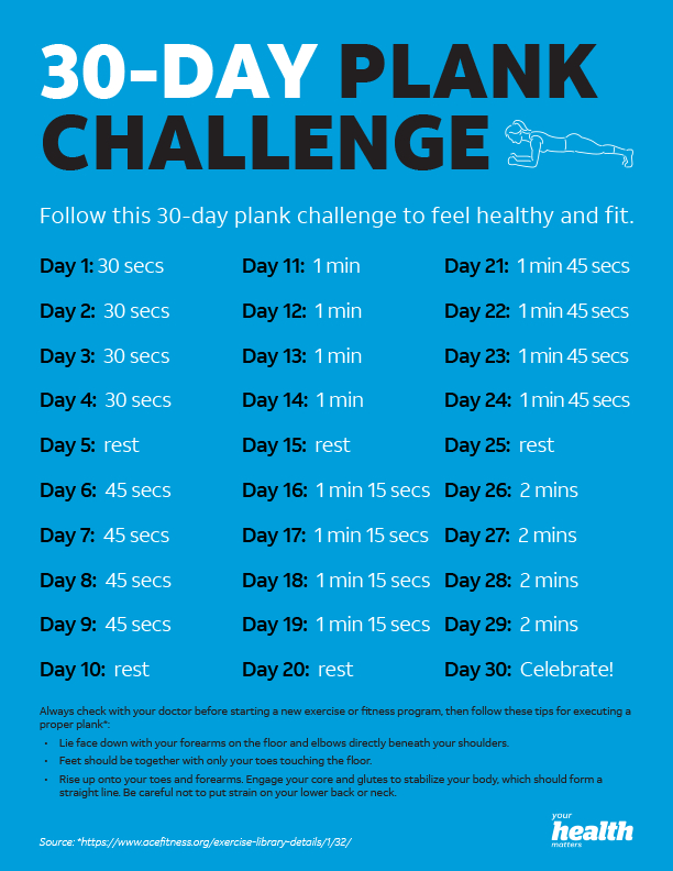 Post Thanksgiving Plank Challenge - Him Her And A Fork 30 Day Plank Challenge Free