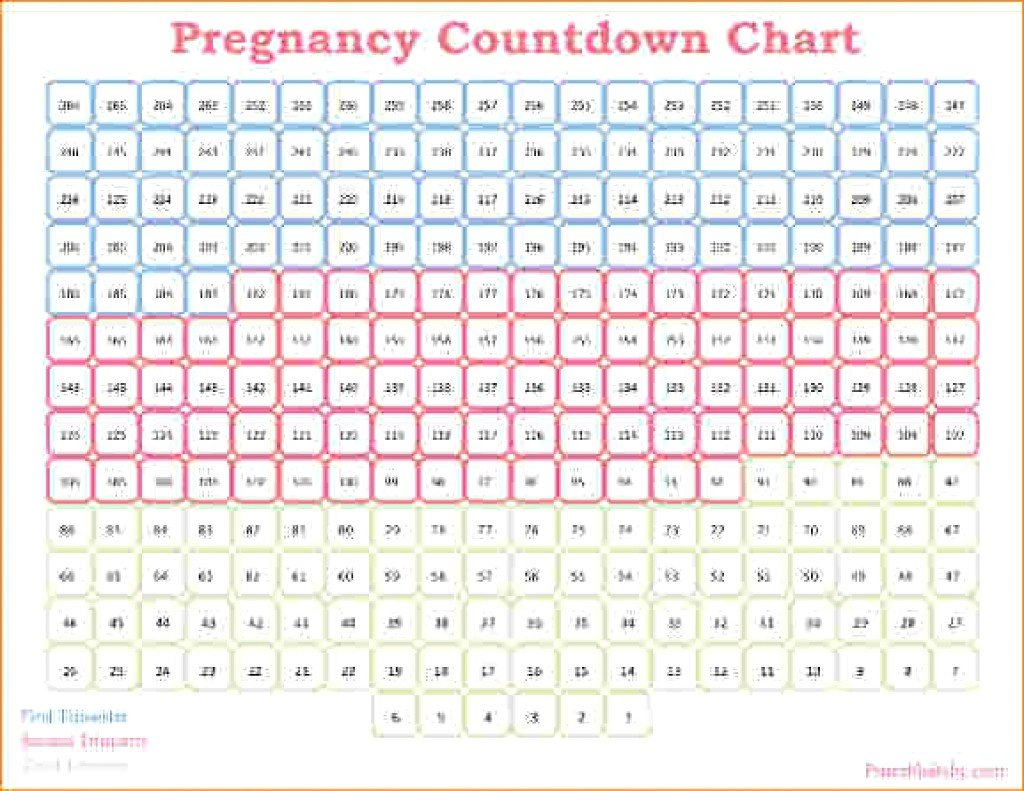 Pregnancy Countdown Calendar Printable Free | Example Mitrinty Count Down Calendar