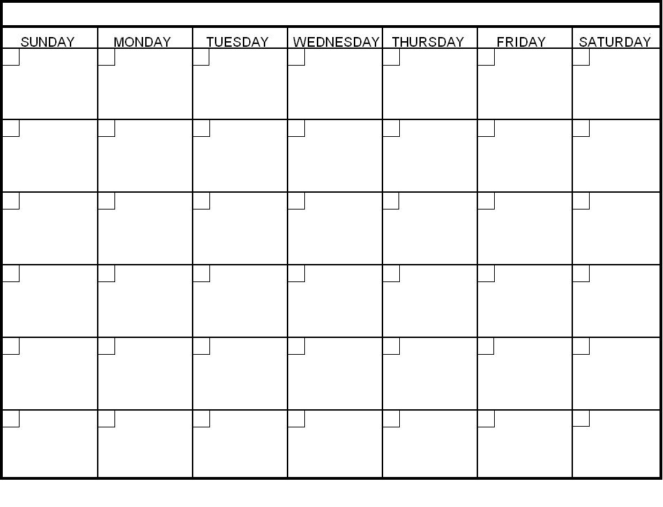 Print Blank Calendar Template – Calendar Yearly Printable Day To Day Calendar Template