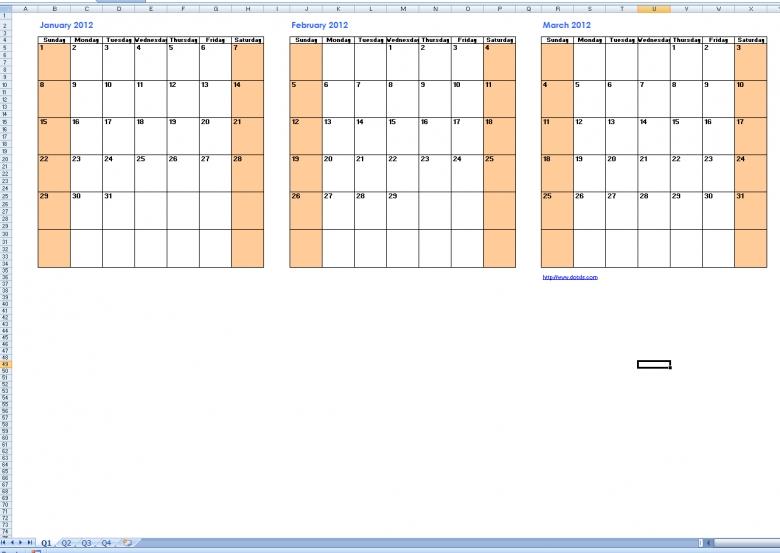 Print Calendars Quarterly :-Free Calendar Template Military Short Timer Calendar Pdf