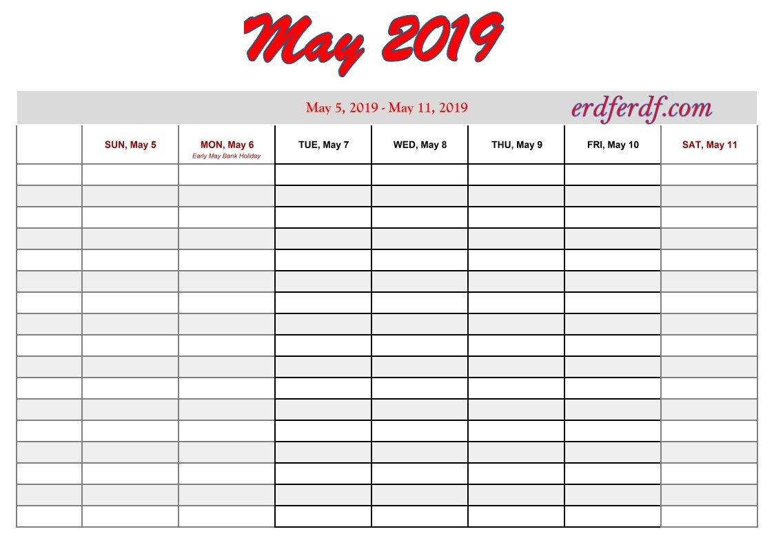 Printable 2019 Calendarweek | Calendar Template Printable One Week Schedule Print
