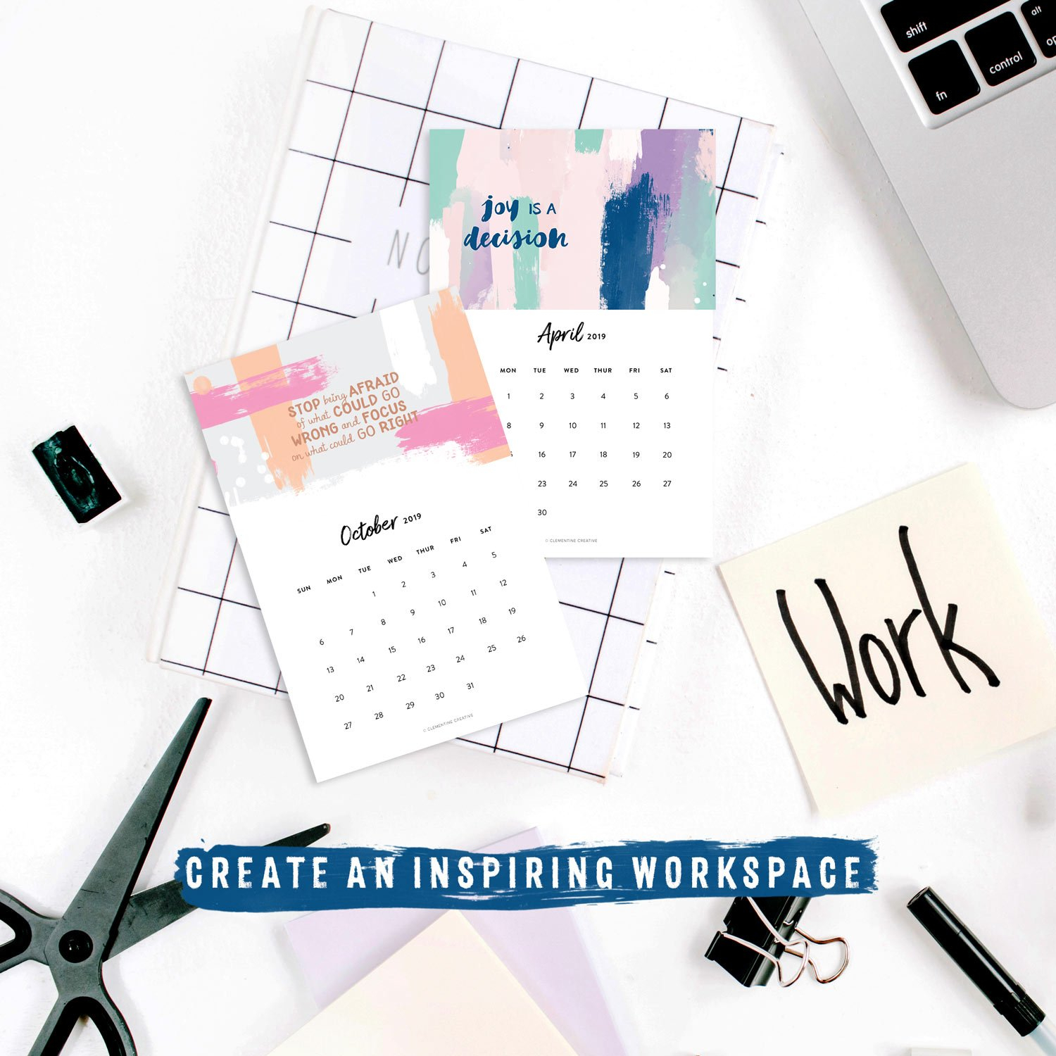 Printable 2019 Motivational Desk Calendar To Inspire You How To Make Mini Calendars Of Only Monday To Friday