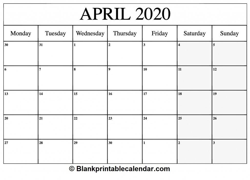 Printable 30 Day Calendar 2020 – Calendar Template 2020 30 Day Calendar Template