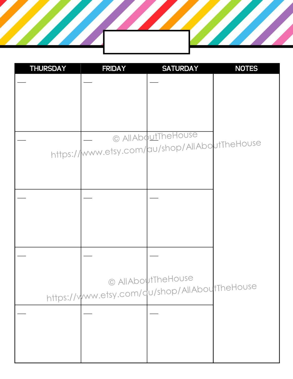 Printable Calendar 2 Page Monthly Calendar Printable Rainbow 2 Page Printable Monthly Calendar