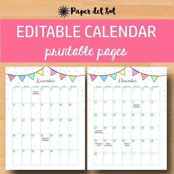 Printable Calendar 2018 Calendar Printable Calendars 2018 Printable Birthday Calendar Free
